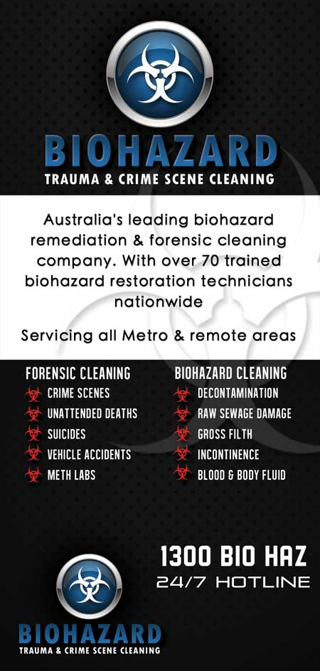 Crime Scene, Death & Suicide, Blood & Biohazard Cleaning Technicians